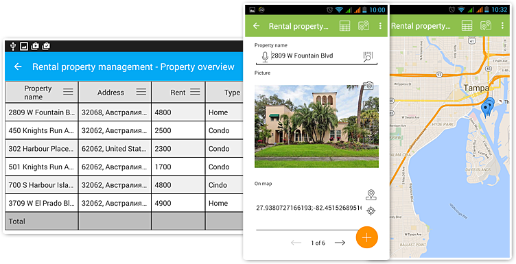 Database App for iOS, Android and Windows